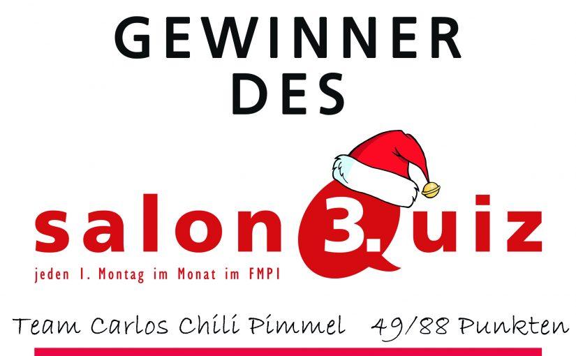salonQuiz N°3 Weihnachtsspezial – Rückblick auf 2017